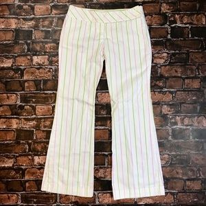 Zara Basic White Pinstripe Dress Pants Size 10